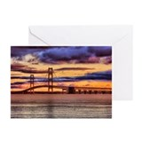 Mackinac Bridge #1157 Greeting Cards (Pk of 20)