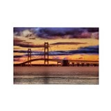 Mackinac Bridge #1157 Rectangle Magnet (10 pack)