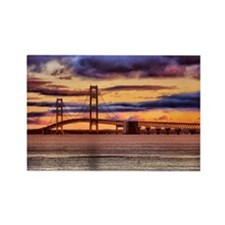 Mackinac Bridge #1157 Rectangle Magnet