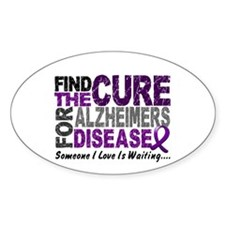Find The Cure 1 ALZHEIMERS Oval Decal