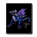 Blue Dragon At Night Mousepad
