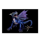 Blue Dragon At Night Postcards (Package of 8)