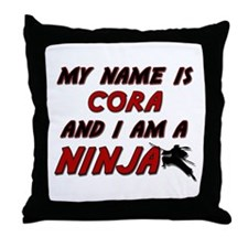 my name is cora and i am a ninja Throw Pillow