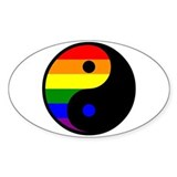 Yin Yang Rainbow Oval Decal