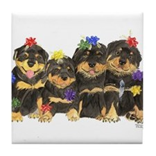 Rottweiler Christmas  Tile Coaster