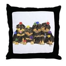 Rottweiler Christmas  Throw Pillow