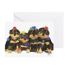 Rottweiler Christmas  Greeting Cards (Pk of 10