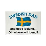 Good Looking Swedish Dad Rectangle Magnet (10 pack