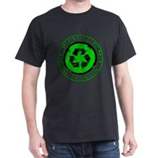 Recycle Men Black T-Shirt