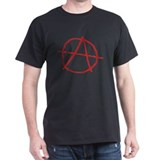 Red Anarchy Black T-Shirt