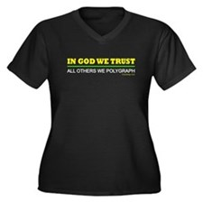 In God We Trust Women's Plus Size V-Neck Dark T-Sh