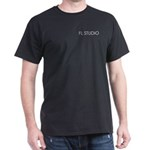 Black T-Shirt with with white FL STUDIO on pocket