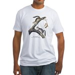 Audubon Red Squirrel (Front) Fitted T-Shirt