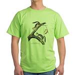 Audubon Red Squirrel (Front) Green T-Shirt