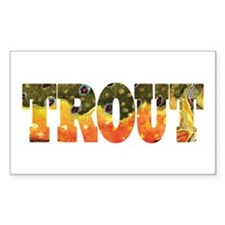 Brook TROUT Rectangle Sticker 10 pk)