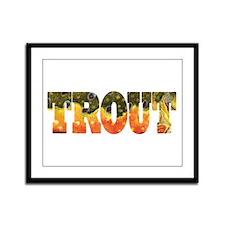 Brook TROUT Framed Panel Print