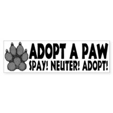 Adopt A Paw: Spay! Neuter! Ad Bumper Car Sticker