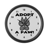 Adopt A Paw: Spay! Neuter! Ad Large Wall Clock