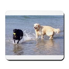 Dogs Playing in Sea Mousepad