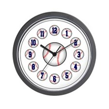 Baseball/Softball Wall Clock (Blue)