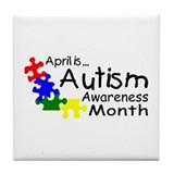 April Is Autism Awareness Month Tile Coaster