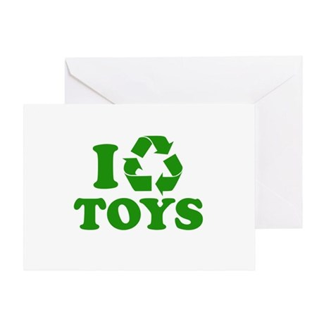 I Recycle Toys Greeting Card