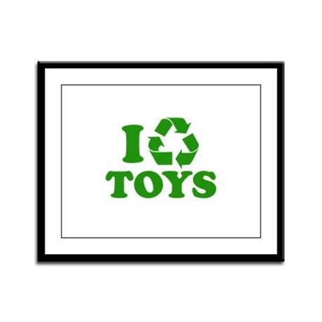 I Recycle Toys Framed Panel Print
