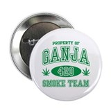"Ganja 420 Smoke Team 2.25"" Button (100 pack)"