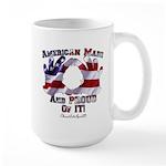 Hand Sign Flag Large Mug