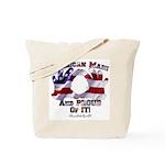 Hand Sign Flag Tote Bag