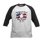 Hand Sign Flag Kids Baseball Jersey