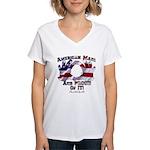 Hand Sign Flag Women's V-Neck T-Shirt