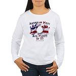 Hand Sign Flag Women's Long Sleeve T-Shirt