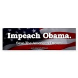 Impeach Obama Bumper  Bumper Sticker