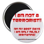 "I am NOT a terrorist! 2.25"" Magnet (100 pack)"