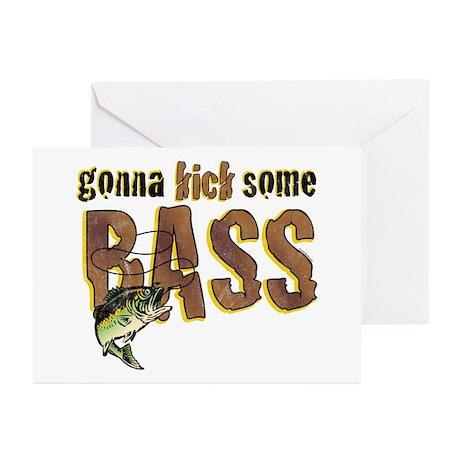 Kick Bass Greeting Cards (Pk of 10)
