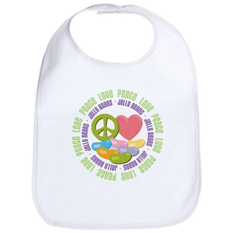 Peace Love Jelly Beans Bib