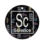Science Retro Ornament (Round)