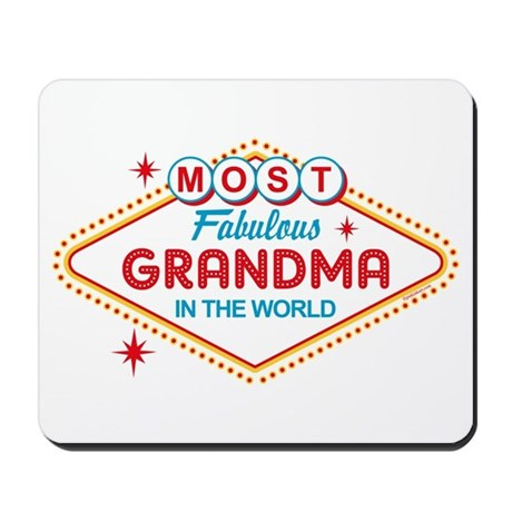 Las Vegas Fabulous Grandma Mousepad