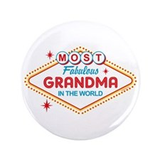 "Las Vegas Fabulous Grandma 3.5"" Button"