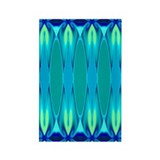 'Cyan Nights' Rectangle Magnet