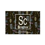 Science Retro Rectangle Magnet
