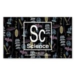 Science Retro Rectangle Sticker