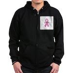 Breast Cancer Awareness Month Zip Hoodie (dark)