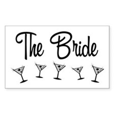 B&W M-Martini Bride Rectangle Decal