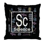 Science Retro Throw Pillow