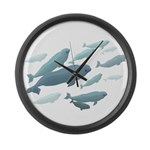 Beluga Whales Art Large Wall Clock &amp;amp; Wildlife