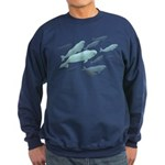 Beluga Whales Sweatshirt (dark) White Whale Shirts