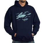 Beluga Whales Hoodie (dark) Marinelife Art Hoodie