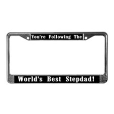 World's Best Stepdad License Plate Frame